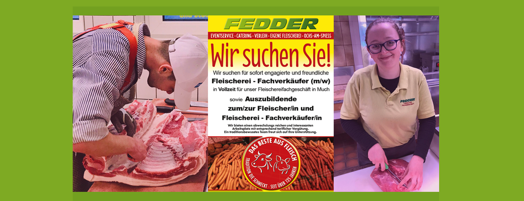 Auszubildende Fleischerei-Fachverkäufer gesucht Fedder Much